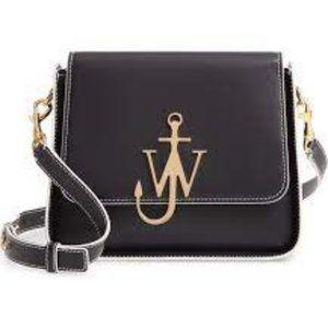 JW ANDERSON Anchor Logo Leather Box Crossbody Bag